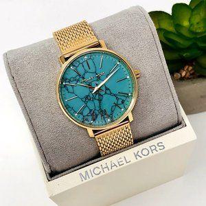 NWT MICHAEL KORS Pyper Gold-Tone Watch MK4393